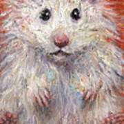 Hamster Painting  Art Print