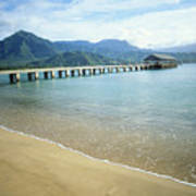 Hanalei Bay And Pier Art Print