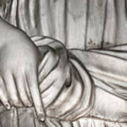 Hand And Robe Art Print