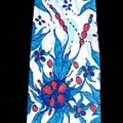 Hand Pinted Tie Art Print