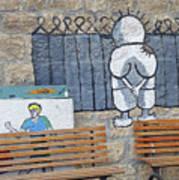 Handala And The Wall Art Print