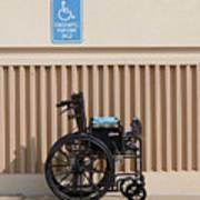 Handicapped Parking Art Print