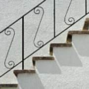 Handrail And Steps 1 Art Print