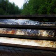 Handrails Tahquamenon Lower Falls Upper Peninsula Michigan 02 Art Print