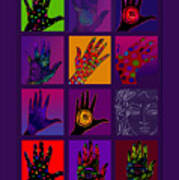 Hands Poster Art Print by Lydia L Kramer