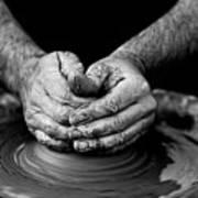 Hands That Shape Art Print