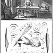 Handwriting, 18th Century Art Print