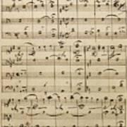 Handwritten Score Art Print