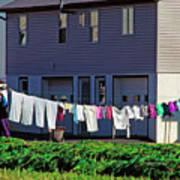 Hanging Laundry Art Print