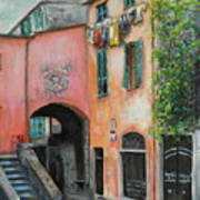 Hanging Out In Monterosso Al Mare Art Print