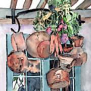 Hanging Pots And Pans Art Print