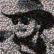 Hank Williams Jr. Bottle Cap Mosaic Art Print by Paul Van Scott