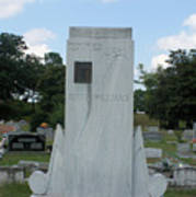 Hank Williams Sr. Headstone Art Print