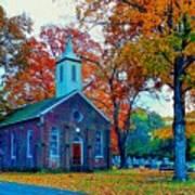 Hanover Church - Fall Art Print