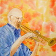Hanson On Trumpet Art Print