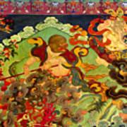 Hanuman Mural - Sera Monastery Tibet Art Print by Craig Lovell