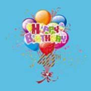 Happy 40th Birthday Art Print