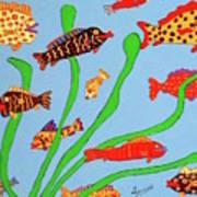 Happy Aquarium Art Print