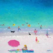Happy Beach Days Art Print