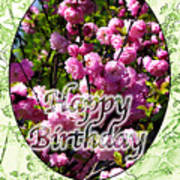 Happy Birthday - Greeting Card - Almond Blossoms No. 1 Art Print