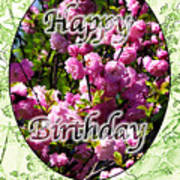 Happy Birthday - Greeting Card - Almond Blossoms No. 2 Art Print