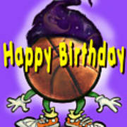 Happy Birthday Basketball Wiz Art Print