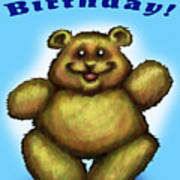 Happy Birthday Bear Art Print