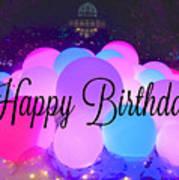 Happy Birthday Bubbles Art Print