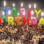 Happy Birthday Candles Art Print