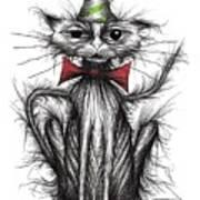 Happy Birthday Cat Art Print