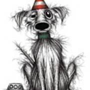 Happy Birthday Dog Art Print
