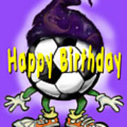 Happy Birthday Soccer Wizard Art Print