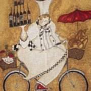 Happy Chef On The Bike Art Print