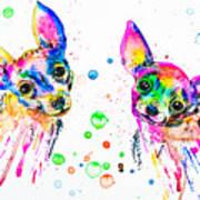 Happy Chihuahuas Art Print