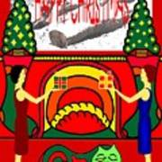 Happy Christmas 13 Art Print