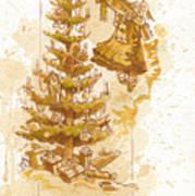 Happy Christmas Art Print by Brian Kesinger