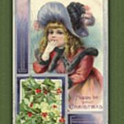 Happy Christmas Vintage Card  Art Print