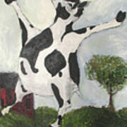 Happy Cow Art Print