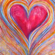 Happy Dancing Heart Art Print