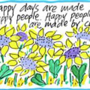 Happy Days W Blue Art Print