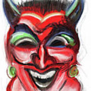 Happy Devil Art Print