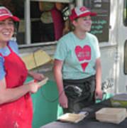 Happy Food Truck Workers Art Print