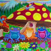 Happy Frog Meadows Art Print