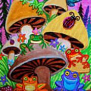 Happy Frog Valley Art Print
