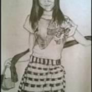 Happy Girl In Naga Outfit  Art Print