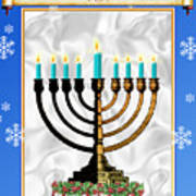 Happy Hanukkah Art Print