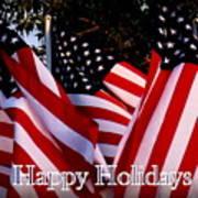 Happy Holidays Flag 1 Art Print