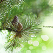 Happy Holidays Too Art Print