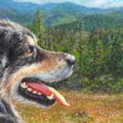 Happy In Oregon Art Print