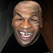 Happy Iron Mike Tyson Art Print